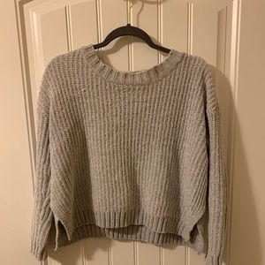 Aerie gray cropped sweater